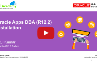 [Video] Oracle Apps DBA (R12.2) Installation : FREE Training