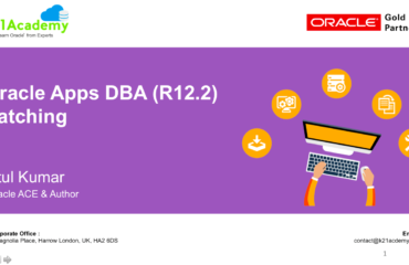 [Video] Oracle Apps DBA (R12.2) Patching (ADOP) : FREE Training