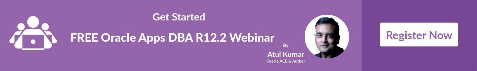 Register now to Get Oracle Apps DBA Webinar