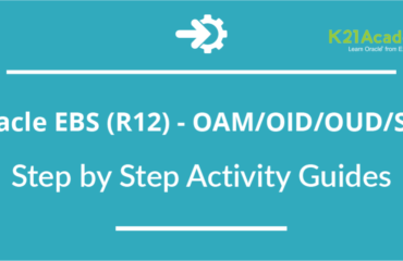Oracle EBS (R12) OAM/OID/OUD/SSO Integration : Activity Guides from Training
