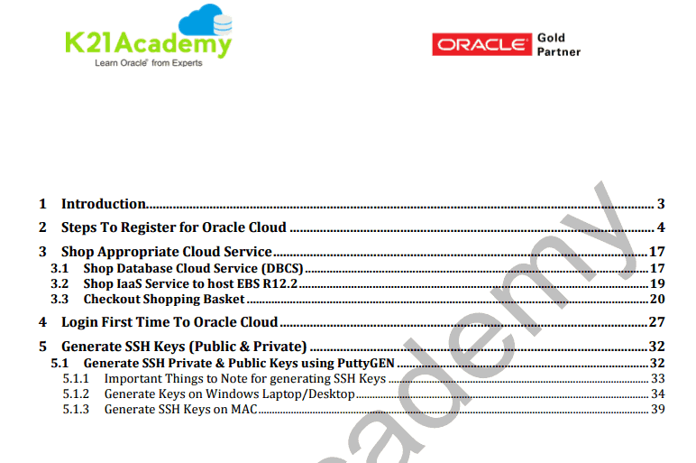 AG I Registering for Oracle Cloud Hands-On Guide