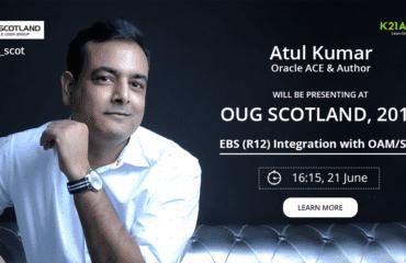 Join Me, Oracle ACE & Author Atul Kumar at OUG Scotland 17 (Glasgow)