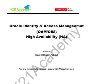 OracleIdentityManagement_OAM_HighAvailabilitySetup_K21