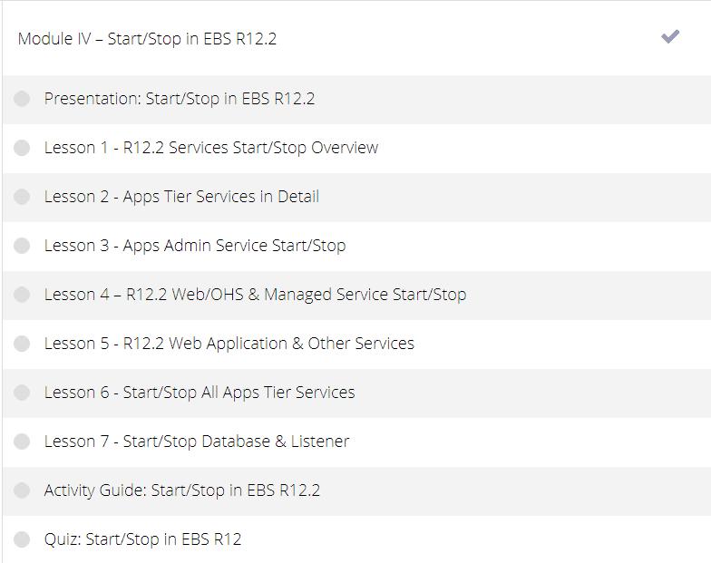 AppsDBA Course Module4