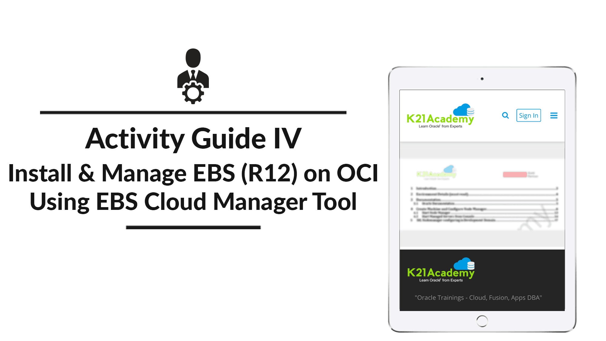 Activity guide 4 on EBS cloud manager