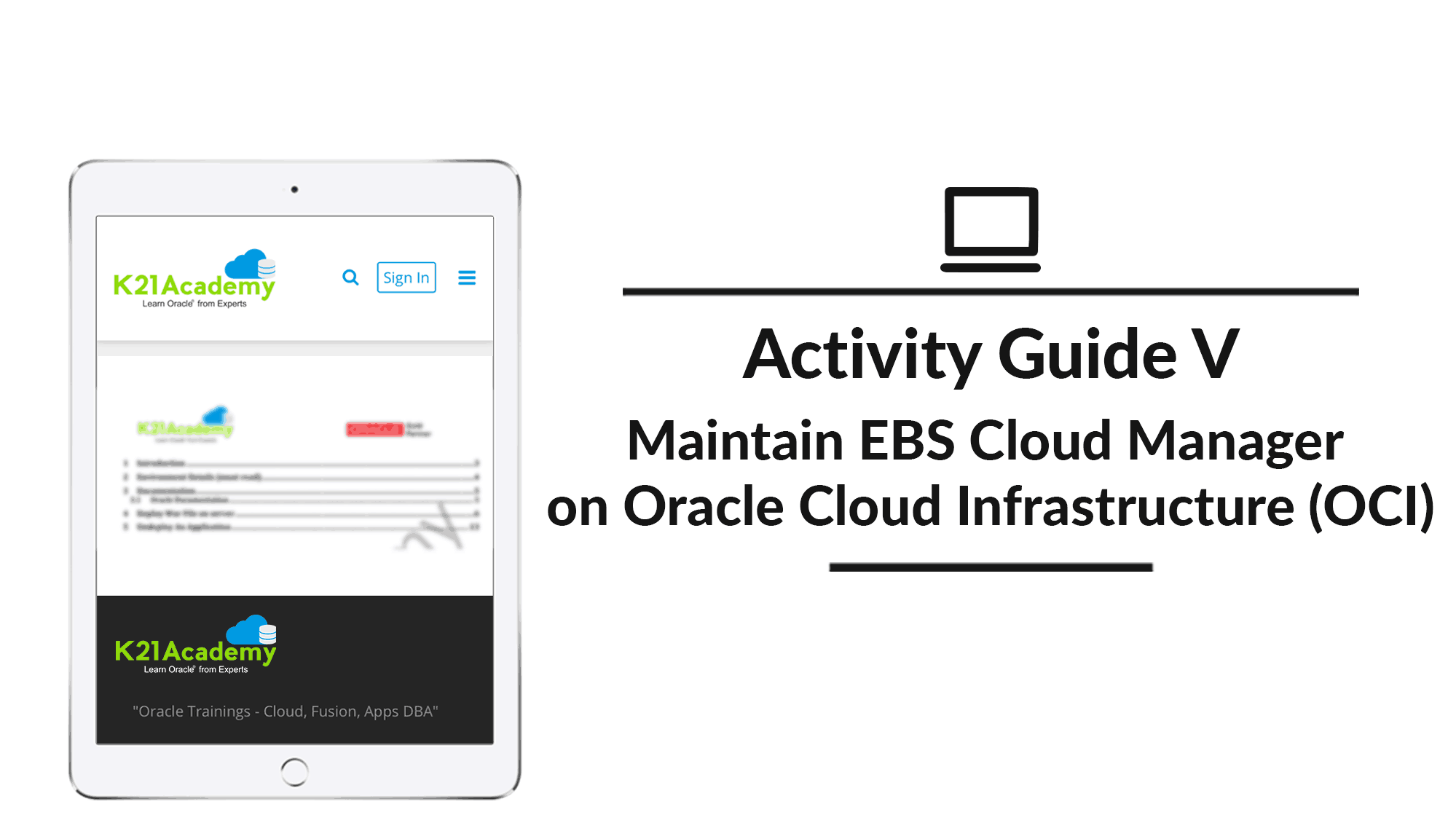 Maintain EBS cloud manager