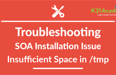Troubleshooting Oracle SOA 12C:  Installation Issue: Insufficient free Space in /tmp