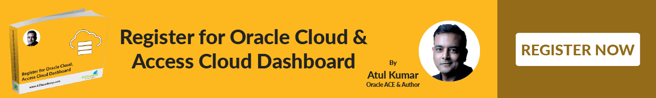 Register now for Oracle Cloud & Access Cloud Dashboard