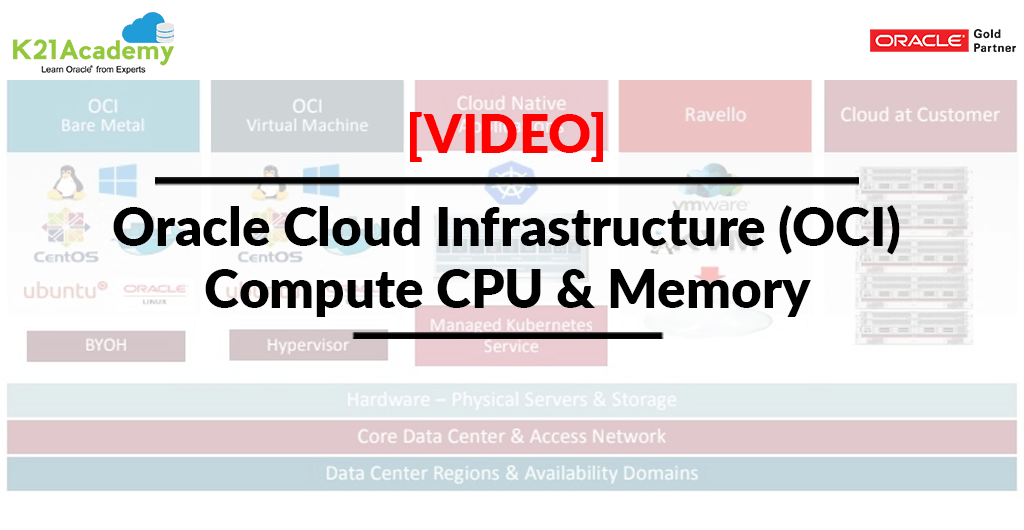 Video] Oracle Cloud Infrastructure (OCI) | Compute CPU & Memory