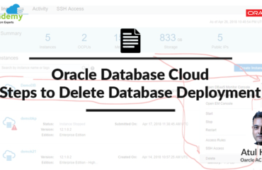 Oracle Database Cloud: Steps to delete database deployment