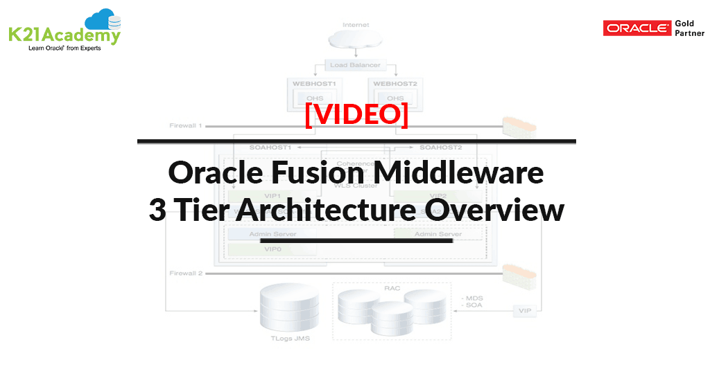 [Video] Oracle Fusion Middleware: 3 Tier Architecture Overview [Part II]