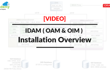 [Video] IDAM ( OAM & OIM ) Installation Highlevel Overview