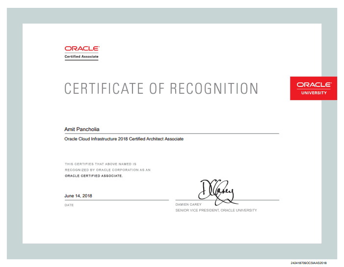 Oracle Cloud Infrastructure (OCI ) - (1Z0-932) Certification - Amit