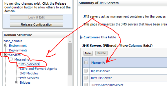 JMS server summary
