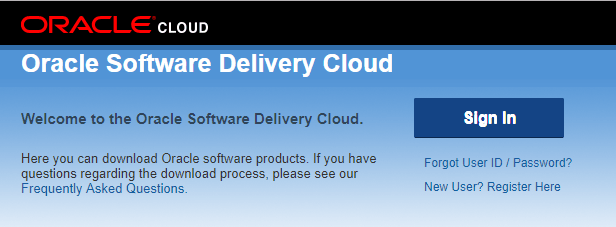 Oracle Software delivery cloud