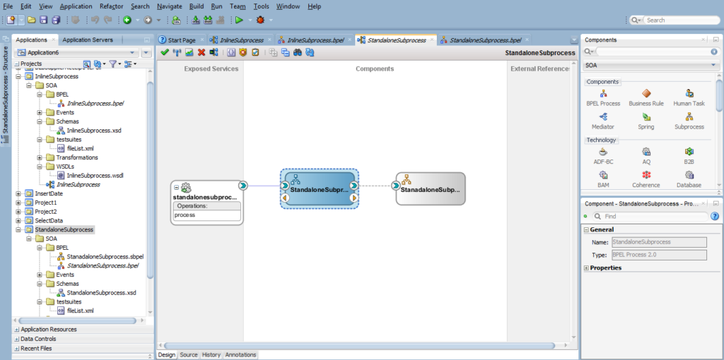 Subprocess in Oracle SOA Suite 12C