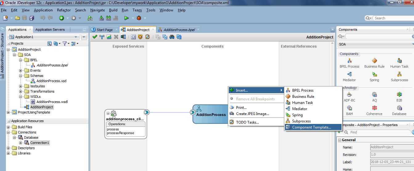 Templates in Oracle SOA Suite 12c