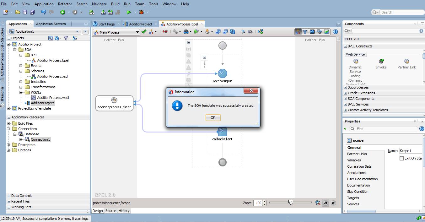 SOA Custom Activity Template gets successfully created