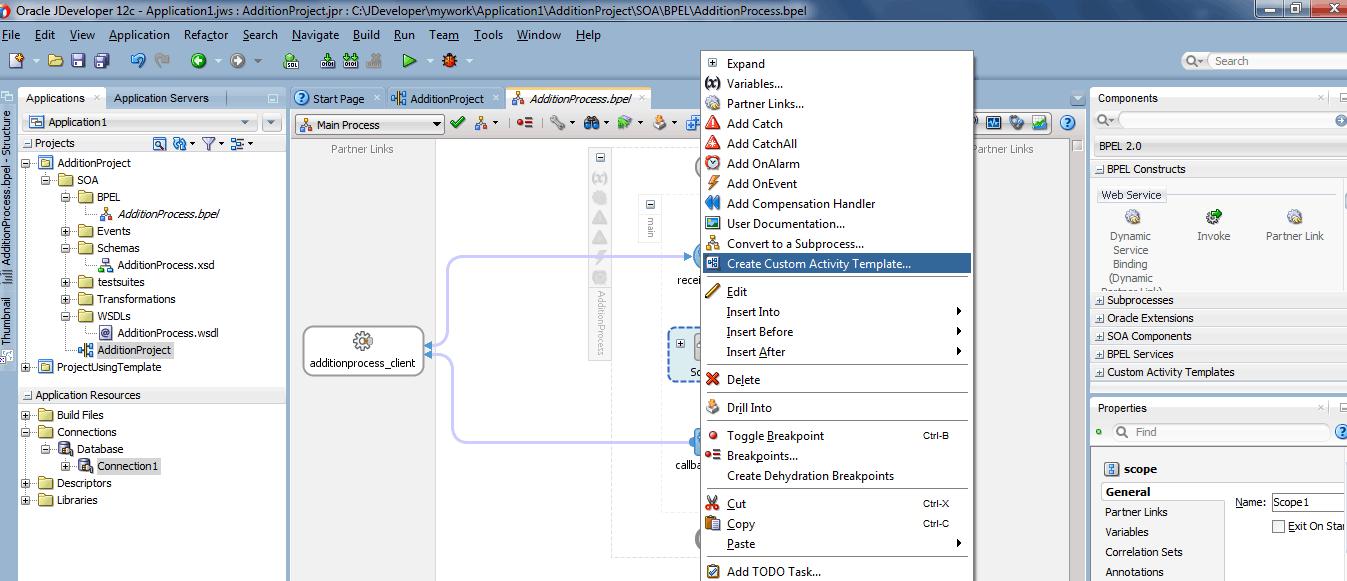 Custom Activity Template