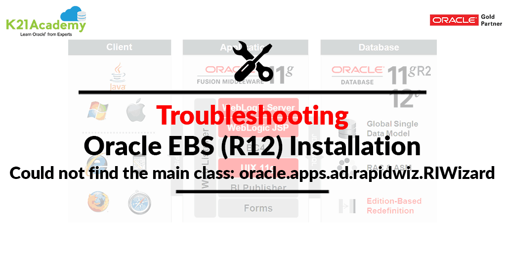 [Solved] Oracle EBS (R12) Installation Issue: Could not find the main class: oracle.apps.ad.rapidwiz.RIWizard