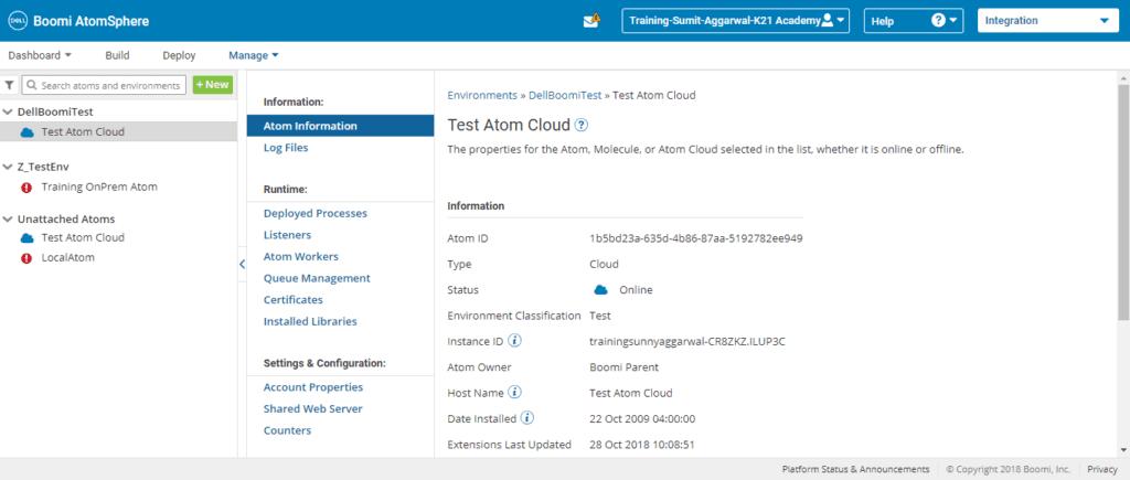 Test Atom Cloud