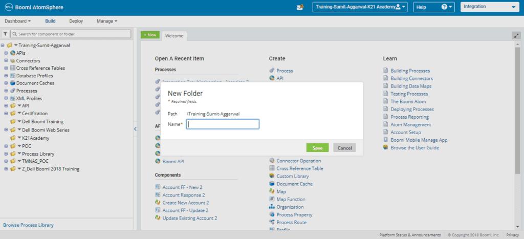 Enter Folder Name