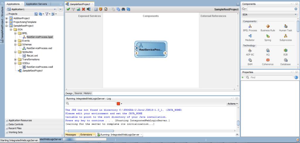 BPEL component gets configured.