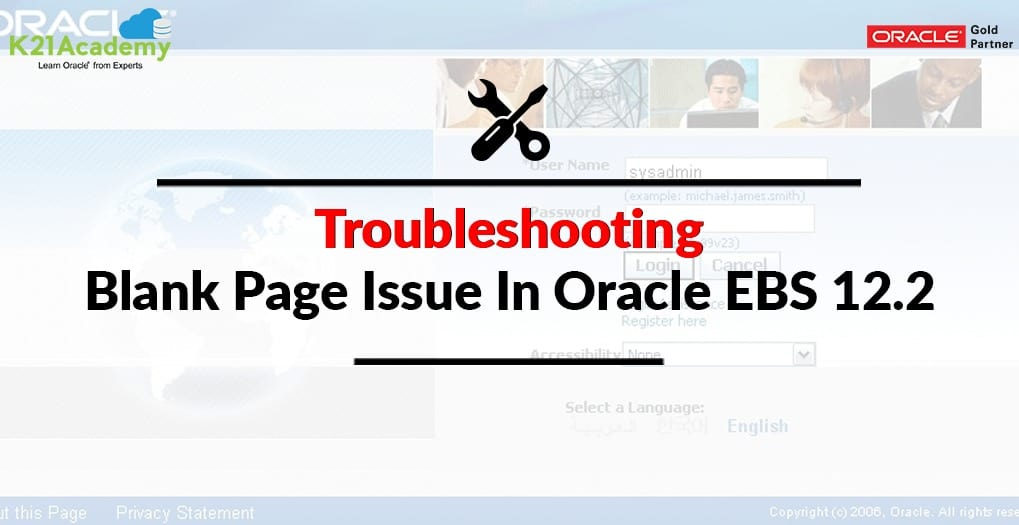Blank Page issue in EBS