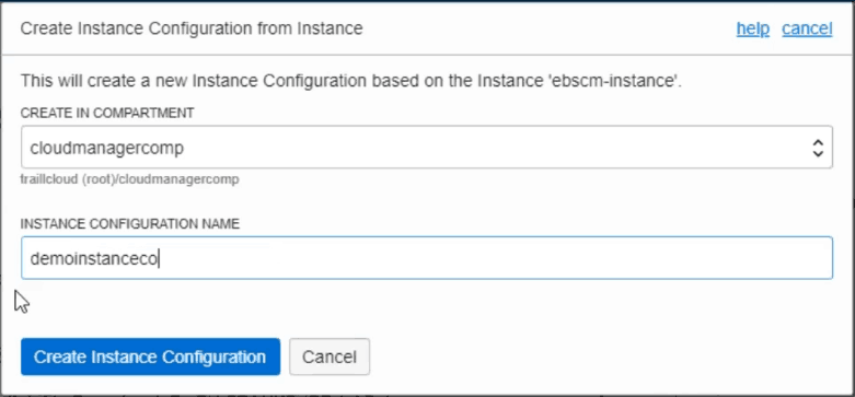 Demo Instance Configuration