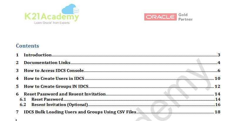 IDCS content