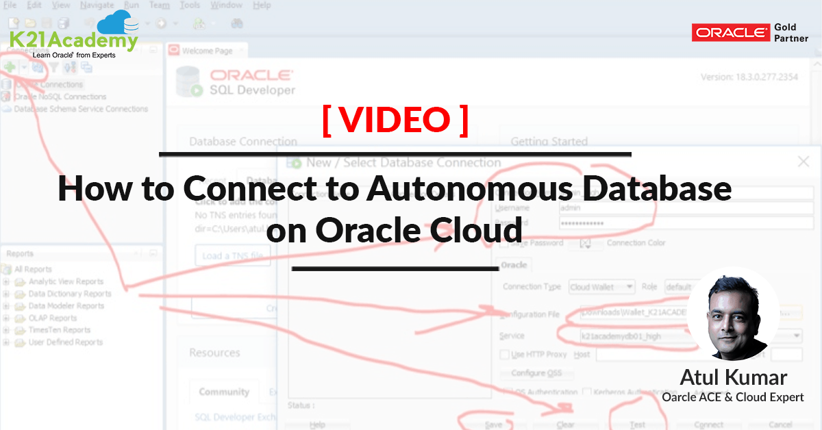 Video] How to Connect to Autonomous Database on Oracle Cloud