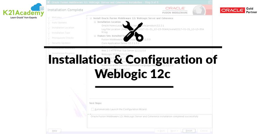 Video] Overview of Installation & Configuration of Weblogic 12c