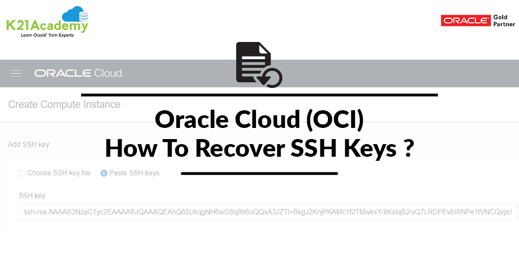 Oracle Cloud (OCI): How To Recover SSH Keys In Compute Instance
