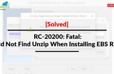 [Solved] RC-20200: Fatal: Could not find Unzip When Installing EBS R12.1