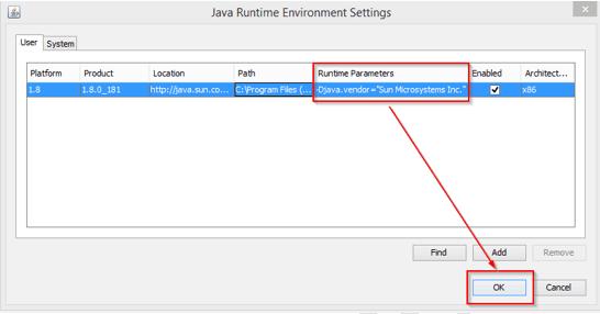 runtime parameters