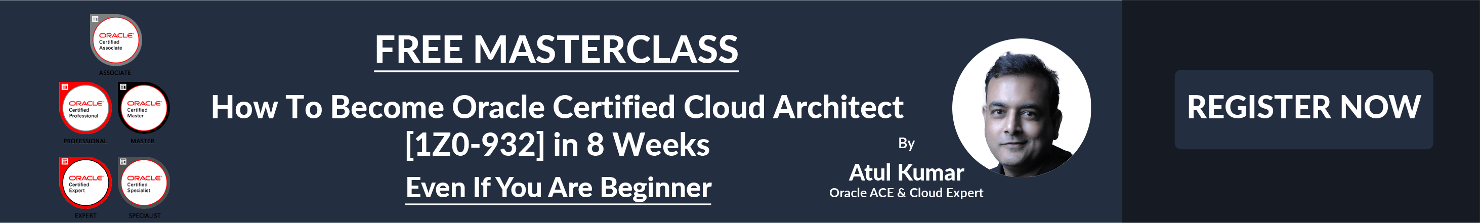 Register this FREE Masterclass to Become Oracle Cloud Certified