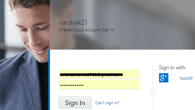 Cloud Account Sign- in