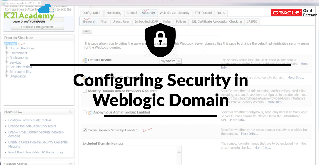 Configuring Security in Weblogic Domain