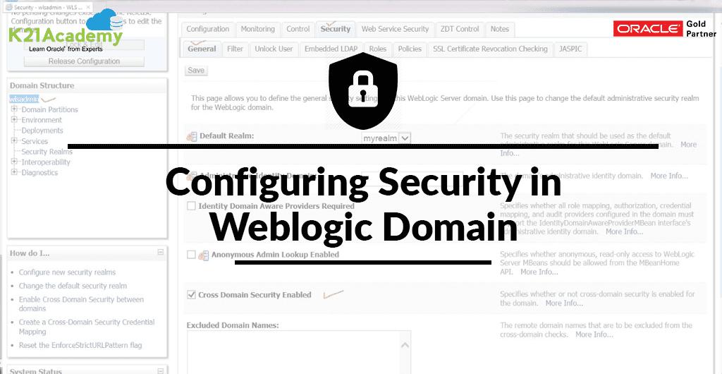 Configuring Security in Weblogic Domain
