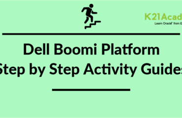 Dell Boomi Platform: Step-by-Step Activity Guide/ Hands-on Lab Exercise