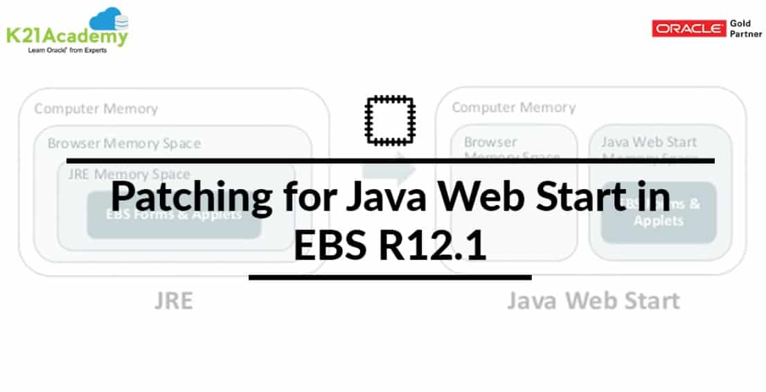 Patching for Java Web Start in EBS R12 1 | K21Academy