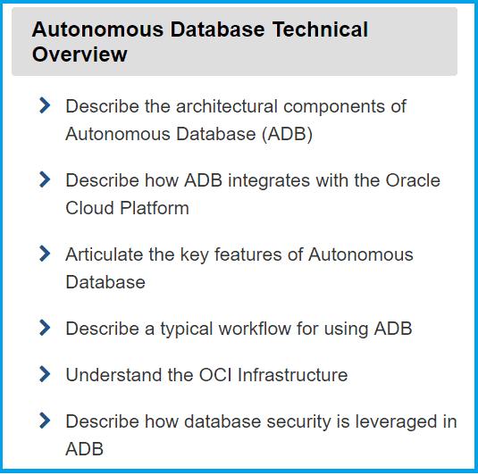 Autonomous Database Technical Overview