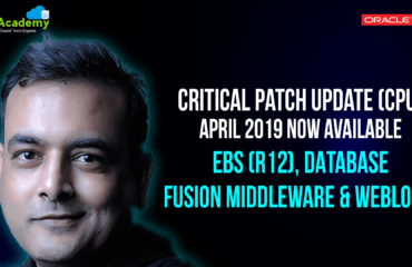 [Video] April 2019 Critical Patch Update(CPU) is Now Available: Apply Now