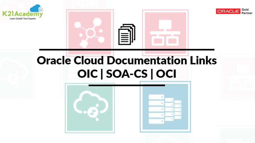 Oracle Cloud Documentation Links