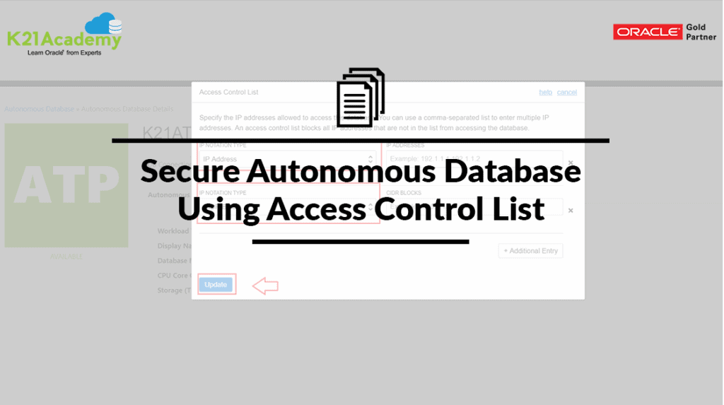 Access Control List Autonomous Database