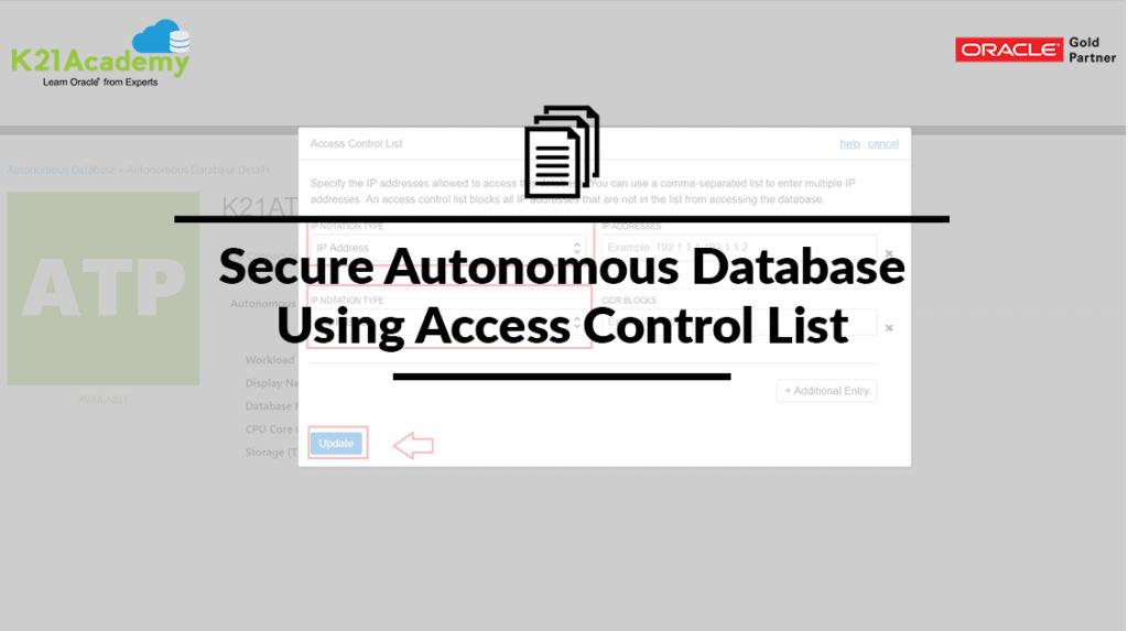 Access Control List Autonomous Database