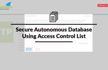 Secure Autonomous Database Using Access Control List