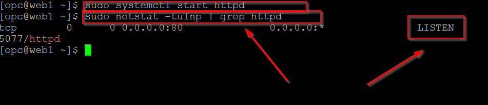 Status of httpd server