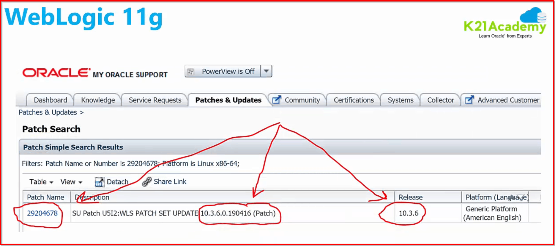 Weblogic 11g Patch Note