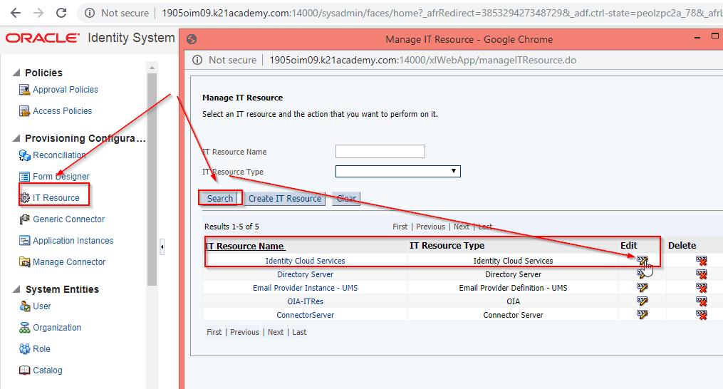 "SSL as ""True"" in IDCS IT Resource Parameter"